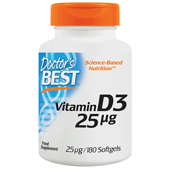 DOCTOR'S BEST VITAMIN D3 1000 IU 180 softgel